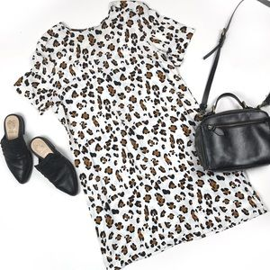 Renee C Leopard animal print shift dress